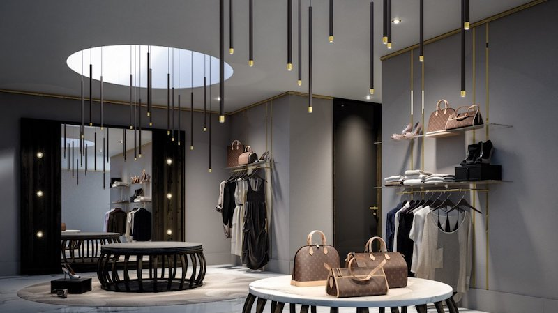 suspension lamps for store